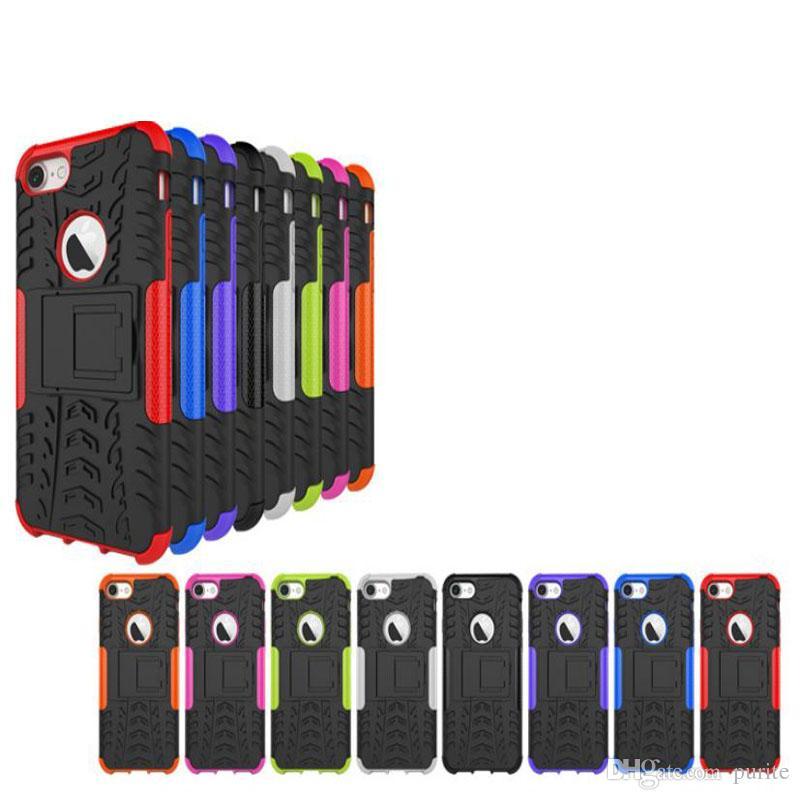Iphone 7 Iphone7 4.7 '' / Plus Armatura Rugged Square Hybrid Spider Hard PC in plastica + Custodia in silicone TPU morbida Custodia antipioggia