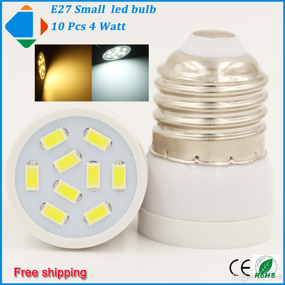 10x Small Led Lights Bulb E27 4 Watt 110v 220v Led Bulbs Lamp ...