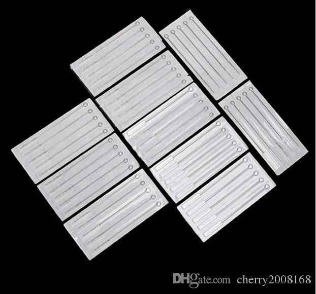 Paquet PRO 100 Pack Rond Double 1 / 7RL / 11RL / 13RL / 15RL Taille mélangée Aiguilles de tatouage stérile Jetable