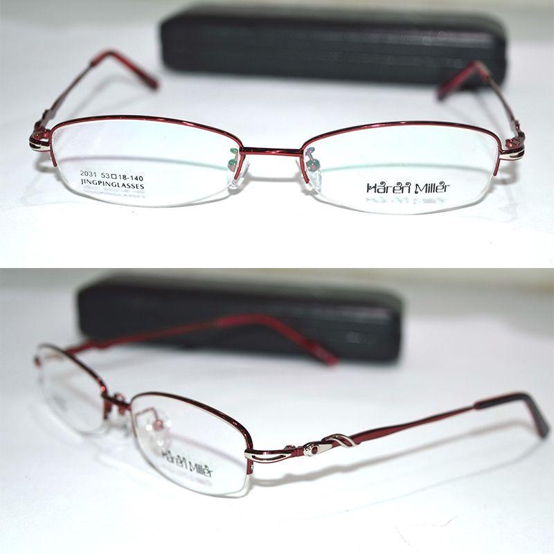 2494ca2d5de Wholesale- Optical Custom Made Optical Lens Titanium Alloy Semi-rim ...