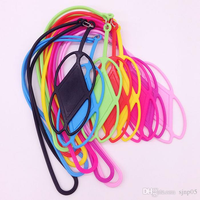 """Silicone Neck Lanyard Case Cover Holder Sling Universal for All 3.5-5.5"""" Phone Colorful Lanyard Mobile Phone Cover with Neck Strap Wholesale"""