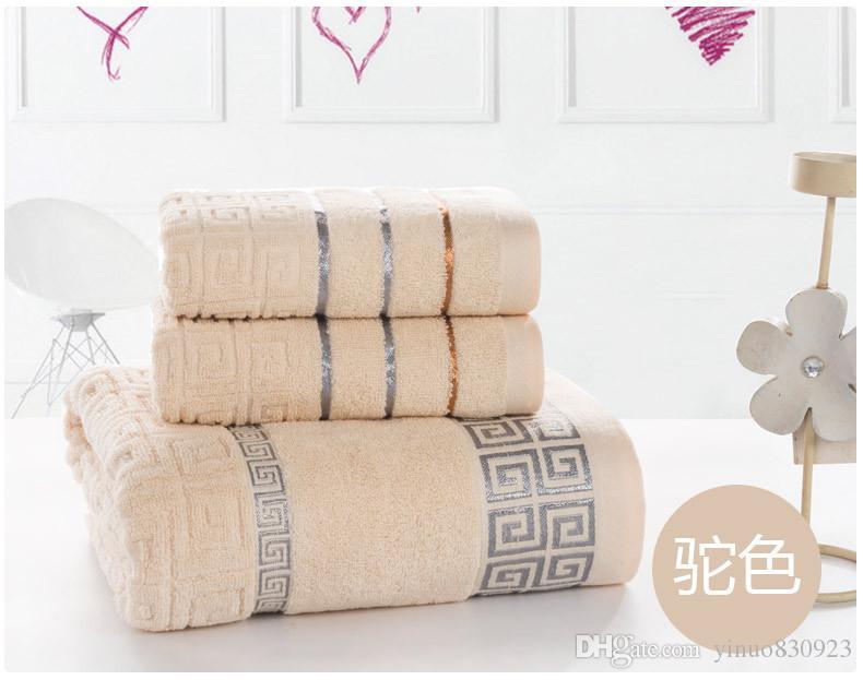Mão Do Banheiro 100% Toalha De Algodão Conjunto para adultos Toalha De Banho Face Hotel Toalha Atacado / set