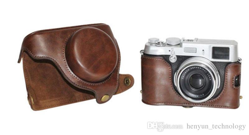 PU Leather Camera Case Camera bag For Fujifilm X20 X10 Finepix Dark Brown Color