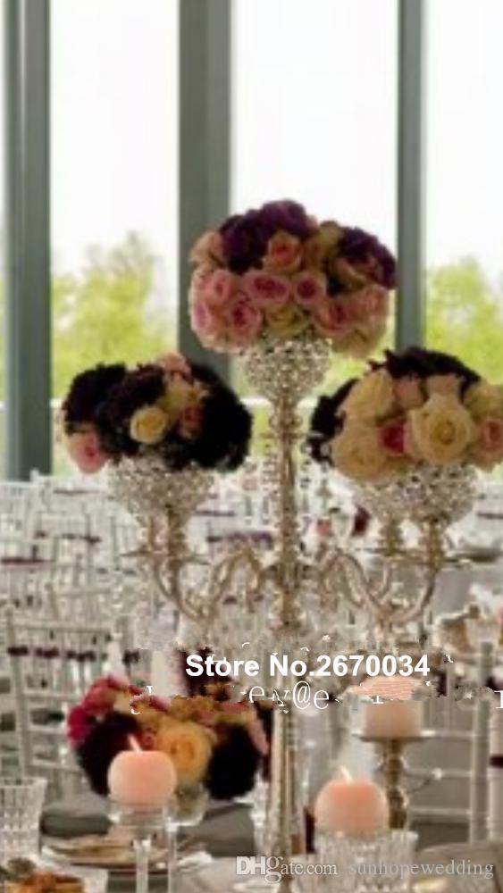 6 options candlestick holder wedding /candlestick candle holder /crystal glass candlestick