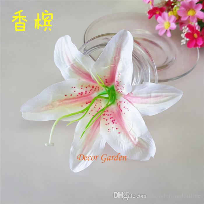 """13cm/5.11"""" Artificial Fabric Silk Lily Flower Head For DIY Wedding Wall Arch Decorative Hat Accessoires FL01"""