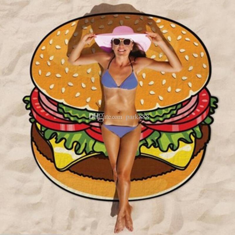 여름 라운드 비치 타월 빠른 건조 야외 스포츠 수건 캠프 목욕 요가 매트 Blanke / 목도리 / 수영복