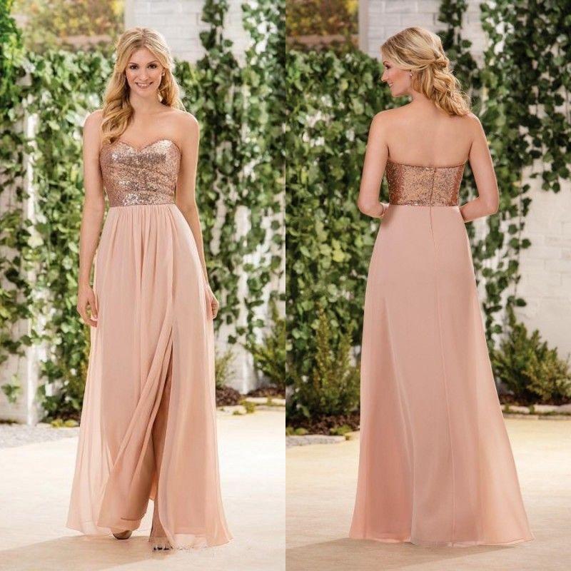 Kleider in rose gold