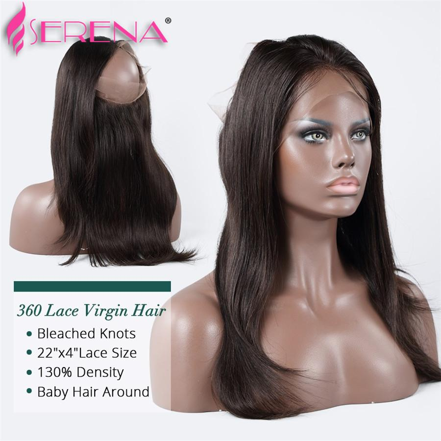 hair with frontal Straight 360 Lace Frontal Closure With Bundles Peruvian Virgin Hair With Closure lace frontal closure wi