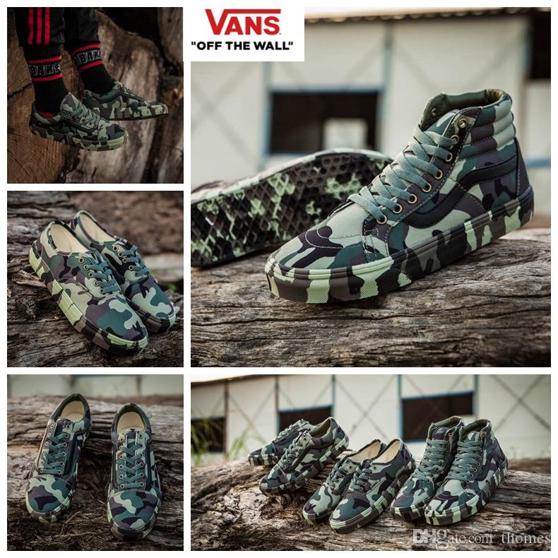 vans defcon. 2017 vans green camo syndicate defcon war sneakers women mens high tops old skool sk8 hi canvas casual fashion sport shoes 36 44 nude