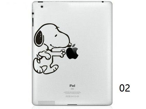 Hot Originality Cartoon-6 series Vinyl Tablet PC Decal Black Sticker Skin for Apple iPad 1 /2 / 3 / 4 / Mini Laptop Skins Sticker