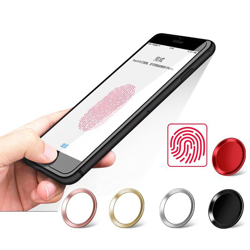 Touch Id Metall Aluminium Home Button Protector Aufkleber Identifizierung Funktion Für Iphone X 8 7 6 S 6 Plus 5 S Se Ipad Air 3 4 Kleinpaket
