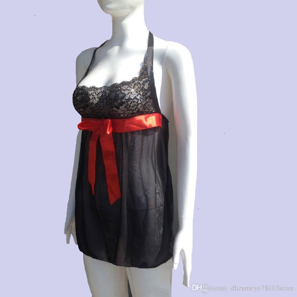 ZSMEYE Hot Sexy Women Lingerie BabyDoll Sleepwear Nightgown Dress Nightwear Plus Size New year Gifts