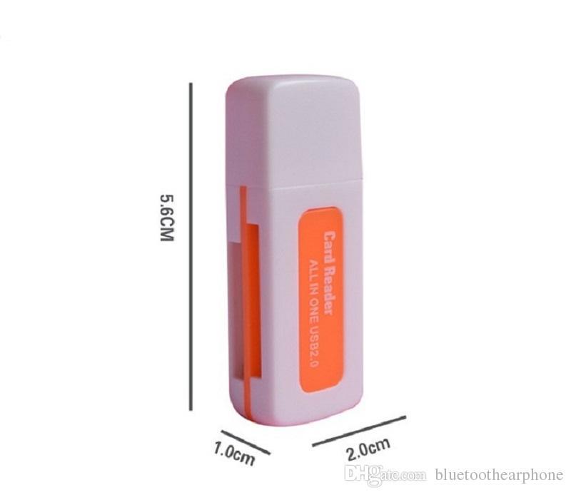 Tarjeta de memoria múltiple Adaptador de lector pequeño multiuso 4 en 1 Tarjeta de alta velocidad USB 2.0 Micro SD T-Flash MS M2 TF