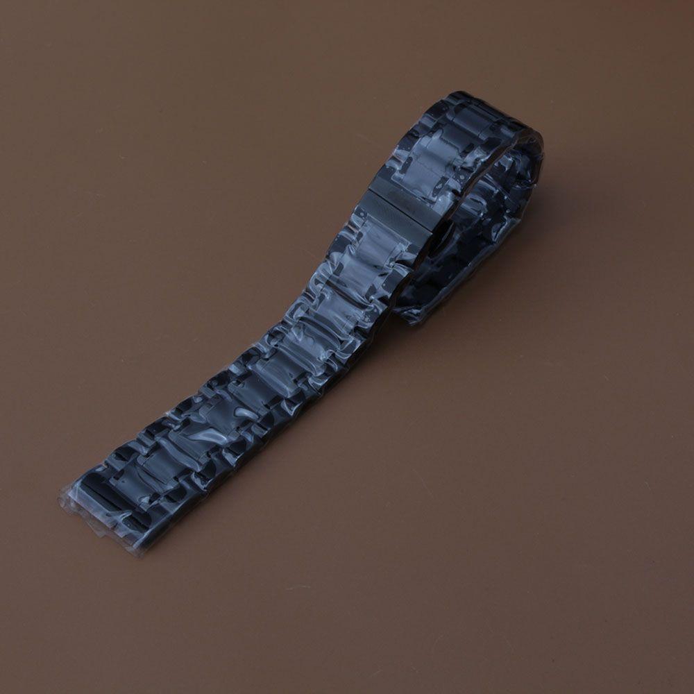 Siyah watchband 14mm 15mm 16mm 17mm 18mm 19mm 20mm 21mm 22mm 24mm için erkek bilek İzle aksesuarları kelebek dağıtım İzle kayış kavisli