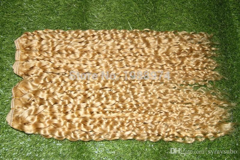 Il più caldo! # 613 La donna di platino brasiliano vergine riccio crespo dei capelli Weave Bundles 100g di grado 6a Brazillian Remy di estensioni dei capelli umani