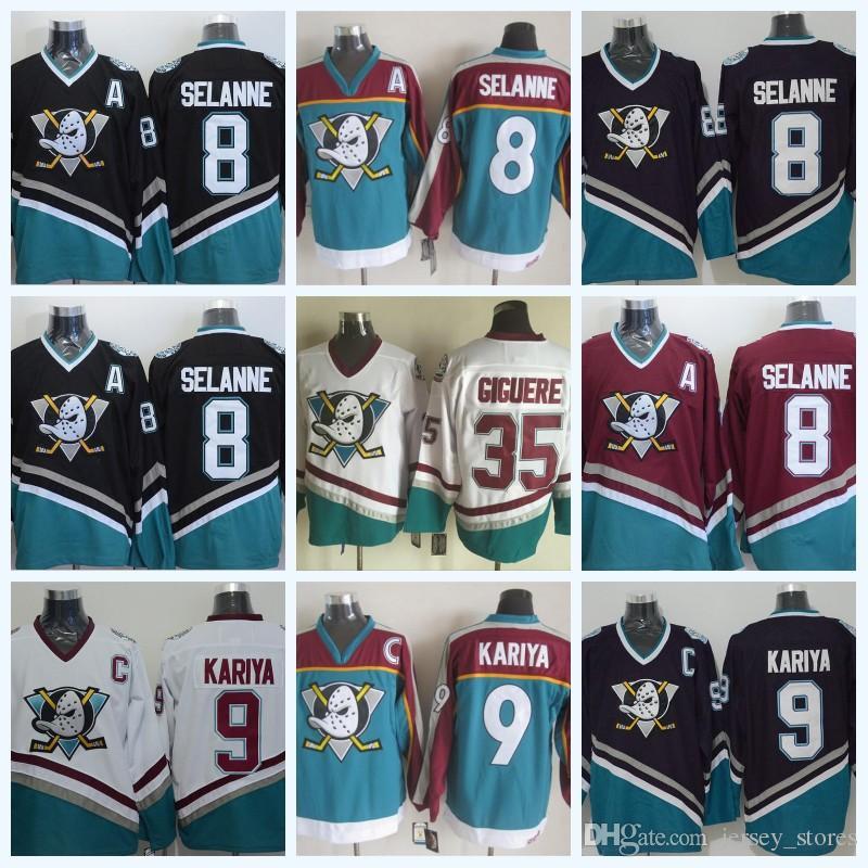 8e02ba46 ... Men s CCM Throwback Jerseys 8 Teemu Selanne 2017 Anaheim Ducks 8,13 Teemu  Selanne 9 Paul Kariya 35 Jean Sebastien Giguere White ...