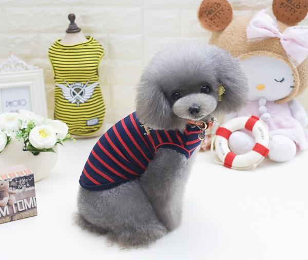 2018 Fashion Design Pet Summer Stripe Vests Small Medium Dog Cat Clothing Apparel for Puppy Wholesale Hotselling