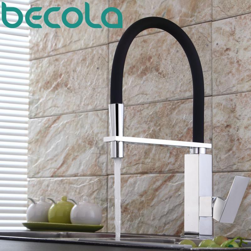 Acheter Becola Nouveau Design En Laiton Robinet De Cuisine Pull Out
