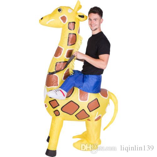 adult ride giraffe costume animel halloween cosplay love live giraffe mascot inflatable costumes halloween costume dress up scary costume animal halloween