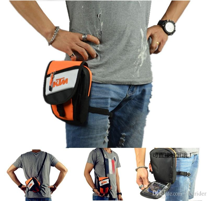 The New Ktm Shoulder Bag Motorcycle Knight Can Be Diagonal Cross With A Touch Screen Bike Riding Leg Handlebar Bags