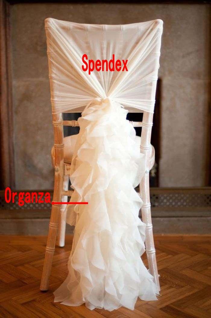 En stock 2018 Spendex Cubiertas de sillas Vintage románticas Diferentes sillas de color Fajas Hermosas decoraciones para bodas