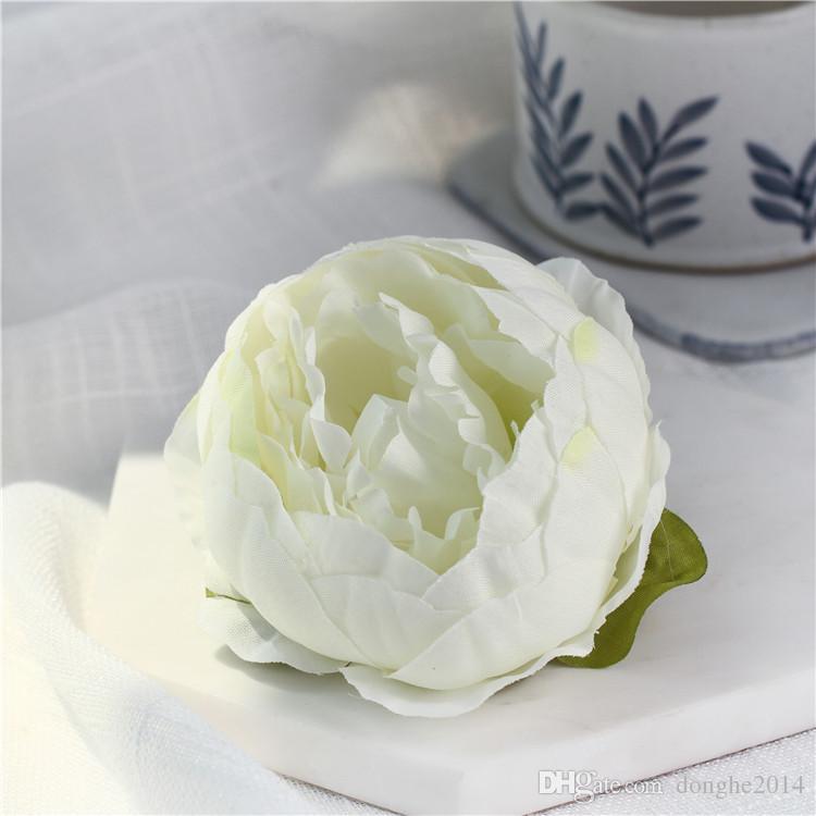 10CM الاصطناعي الزهور لرؤساء زينة الزفاف الحرير زهرة الفاوانيا خلفية الطرف الديكور زهرة الجدار الزفاف الأبيض الفاوانيا