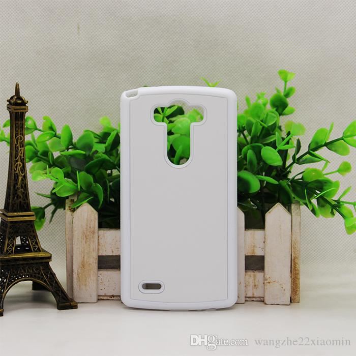2D 2 in 1 Durable Sublimation Rubber case for LG G2 G3 with plate+glue TPU+PC DIY Customized Case