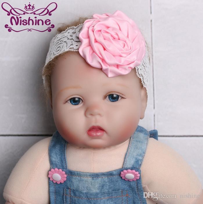 Nishine Kids Girl Lace Rose Flower Headband Wide Band Hairband Soft Elastic  Hair Band HeadwearColor  Hairband Headband Baby Headband Online with   0.86 Piece ... 8911c0398684