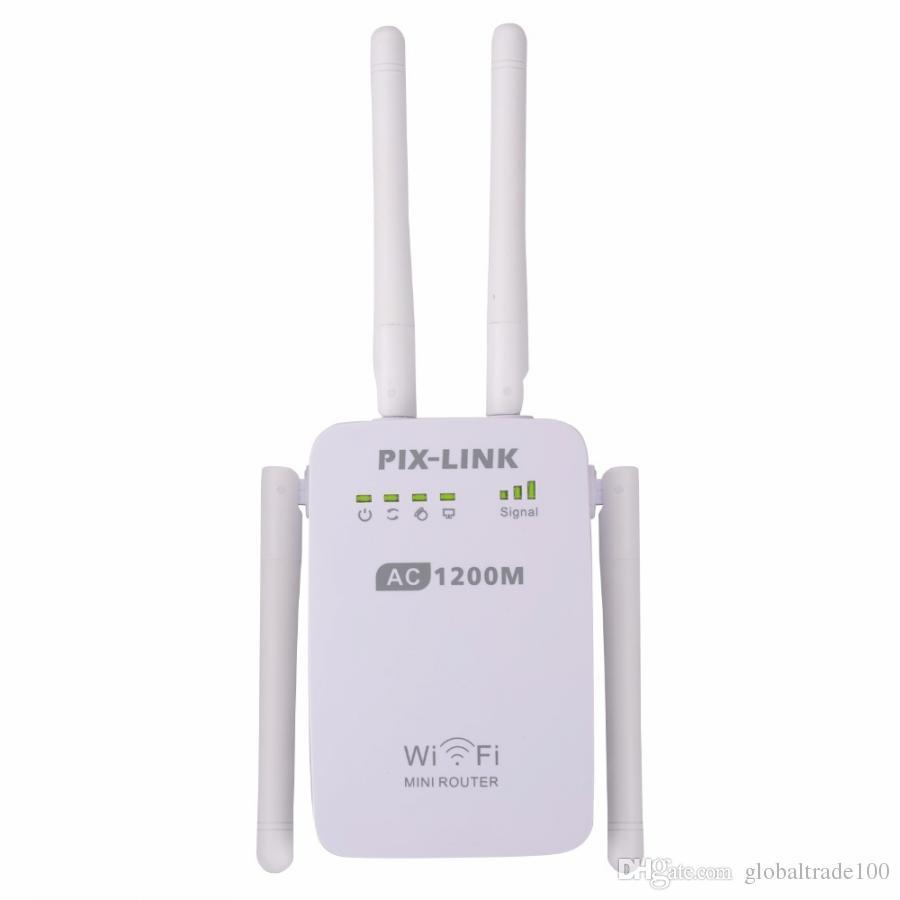Orijinal PIX-LINK En Iyi AC1200 WIFI Yönlendirici / Erişim Noktası Kablosuz 1200 Mbps Aralığı Wi-Fi 4 Harici Antenler AC05