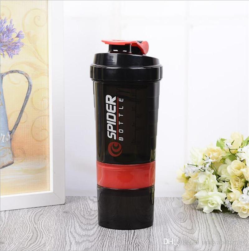 500 ml Protein Shaker Mixer Mixer Cup Sport Workout Fitness Fitnesstraining 3 Schichten Multifunktions BPA Frei Shaker Wasserflasche Container