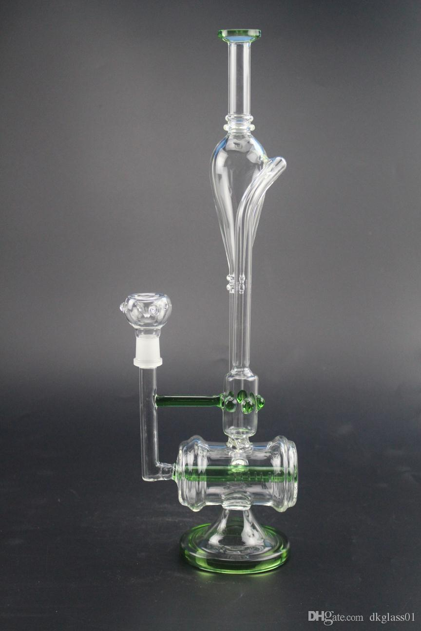 14 inches of water pipe sound recycling water glass dry oil and smoke tobacco