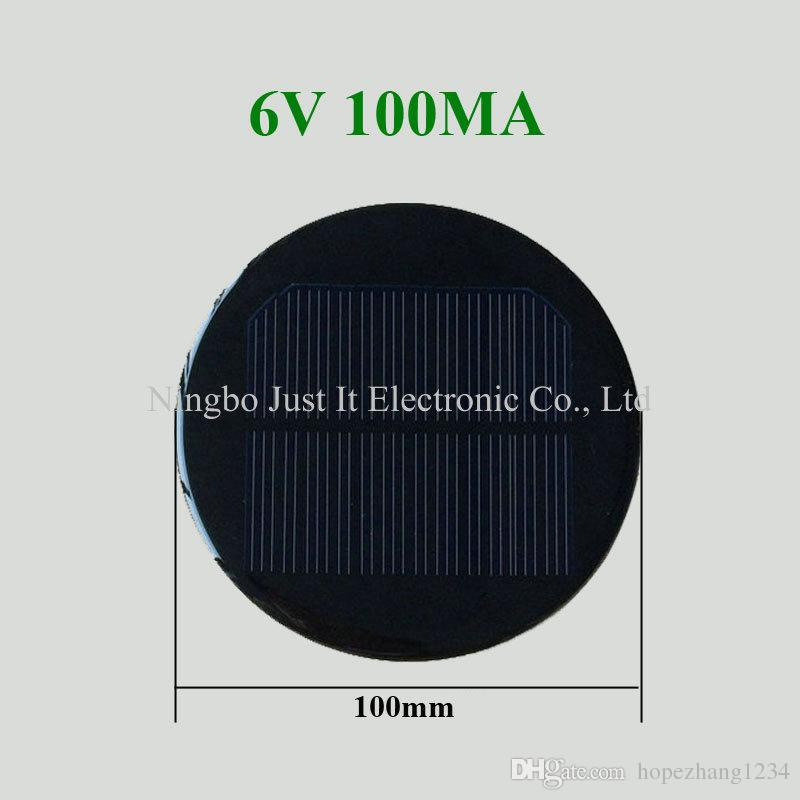Epoxy Resin Round Solar Cell 6v 100ma Diameter 100mm House