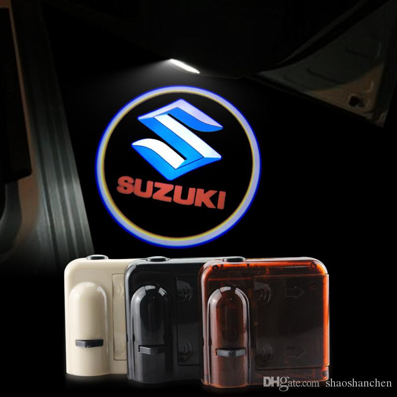 2018 2x Car Door Lights Logo Ghost Shadow For Suzuki Swift Sx4