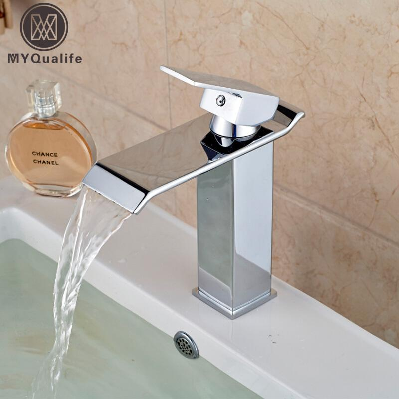 Wholesale- Wholesale And Retail Chrome Finish Waterfall Bathroom ...
