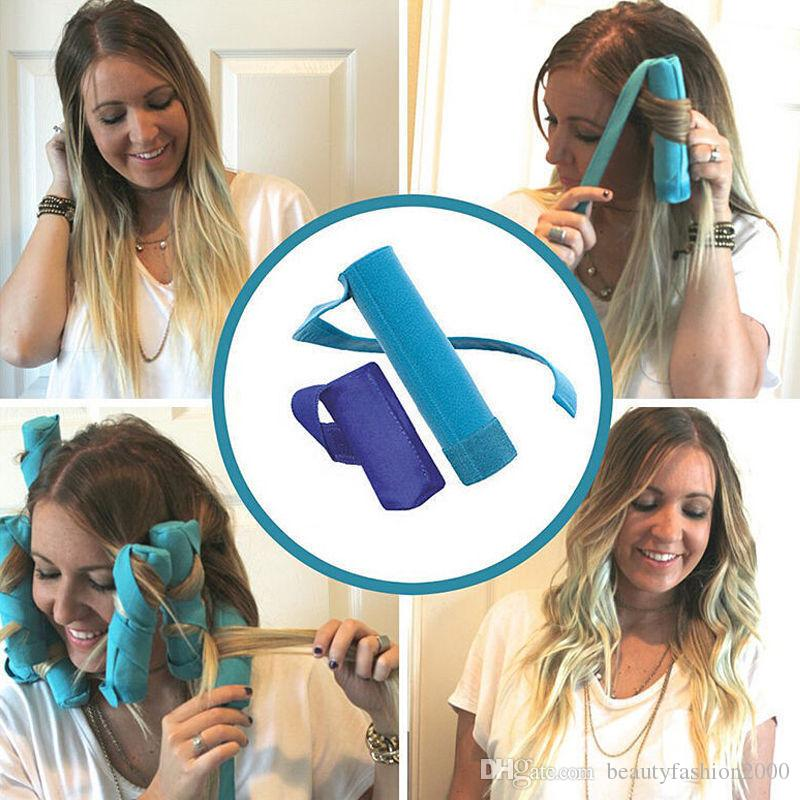 Hair Style Curler Styler in Sleep Kit Long NIP 8 Rollers Curlers 6 inch Long Shark Tank Braكرو