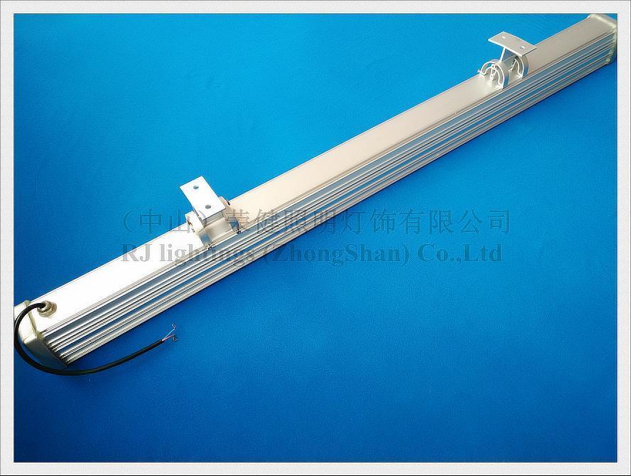 Nuevo diseño Aluminio lujoso y vidrio reforzado 24 LED 24W LED bañador de pared lámpara de luz LED barra luz luz de inundación AC85-265V