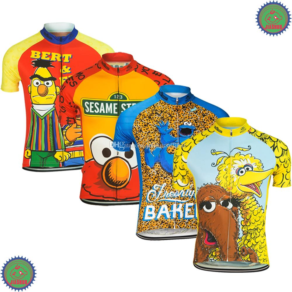Customized NEW Hot 2017 JIASHUO Cartoon FUNNY Biking Mtb Road RACING Team  Bike Pro Cycling Jersey   Shirts Clothing Breathing Air Chooses Mountain  Bike ... 703c78f38