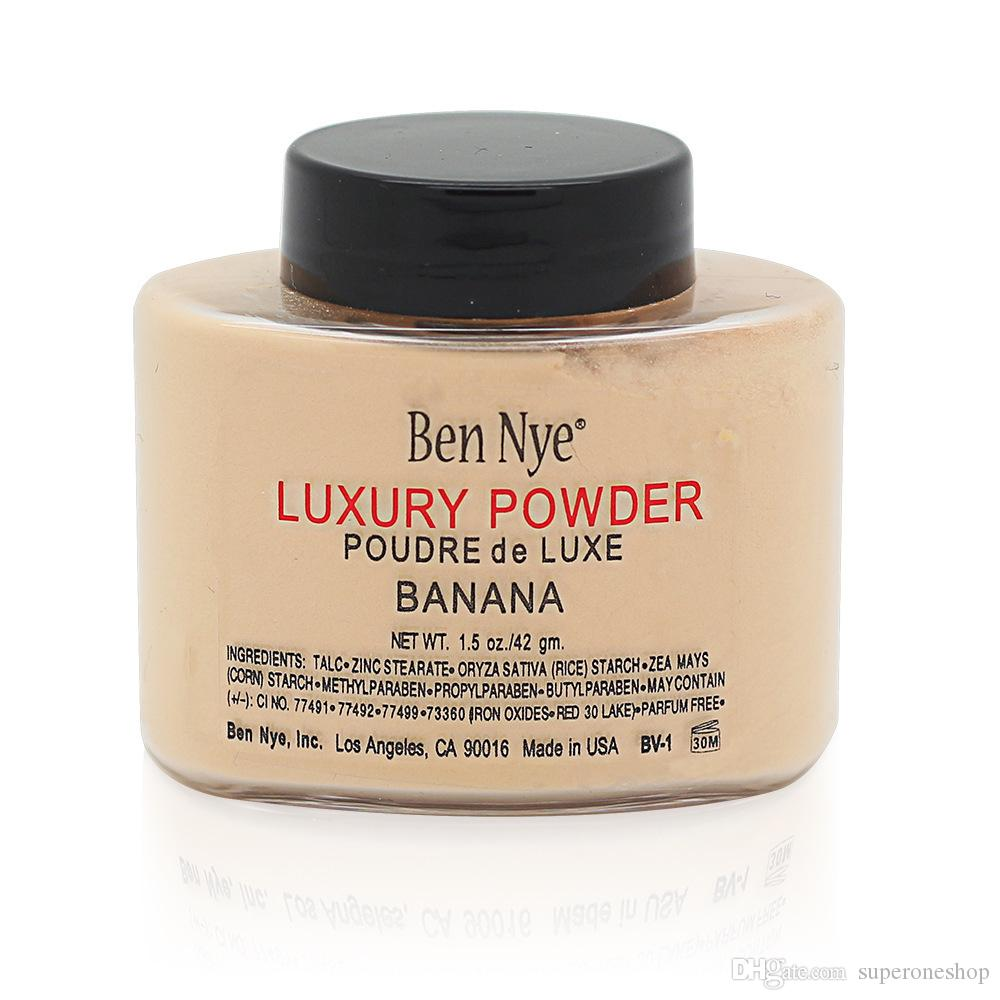 Ben Nye Luxury Powder 42g New Natural Face Loose Powder Waterproof Nutritious Banana Brighten Long-lasting DHL Free shipping