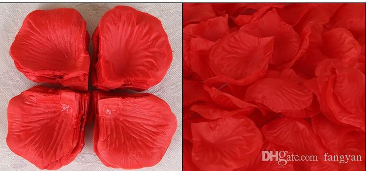 Top quality Silk Rose Flower Petals Leaves Wedding Decorations Party Festival Table Confetti Decor