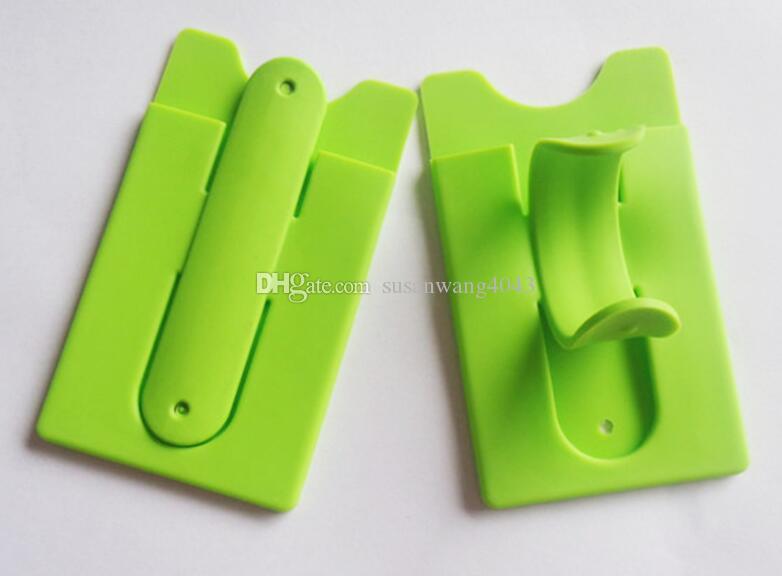 Supporto universale slot schede Portatile Finger Touch Stander con adesivo iphone 7 galaxy S8 K7 Portafoglio in silicone Staffa Supporti DHL HDSZ012