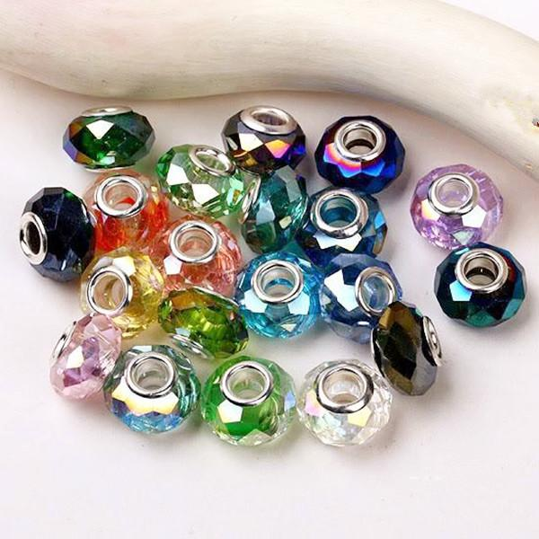 Wholesales Stamped 925 Sterling Silver Core Crystal Glass Big Hole ... 99441beef470
