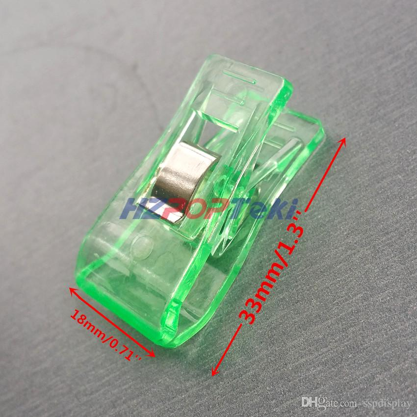 Plastic 3.3x1.8cm Sewing Fabric Bordure Tidy Grocery Products Package Grip Clamp Spring Paper Small Clips Entirely