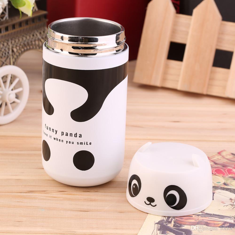 220ml En Acier Inoxydable Mignon Panda Hibou Ours Jaune Ours Chanceux Thermoses Portable Thermoses Tasse À Vide Flacon Tasse Eau Chaude Thermoses Bas