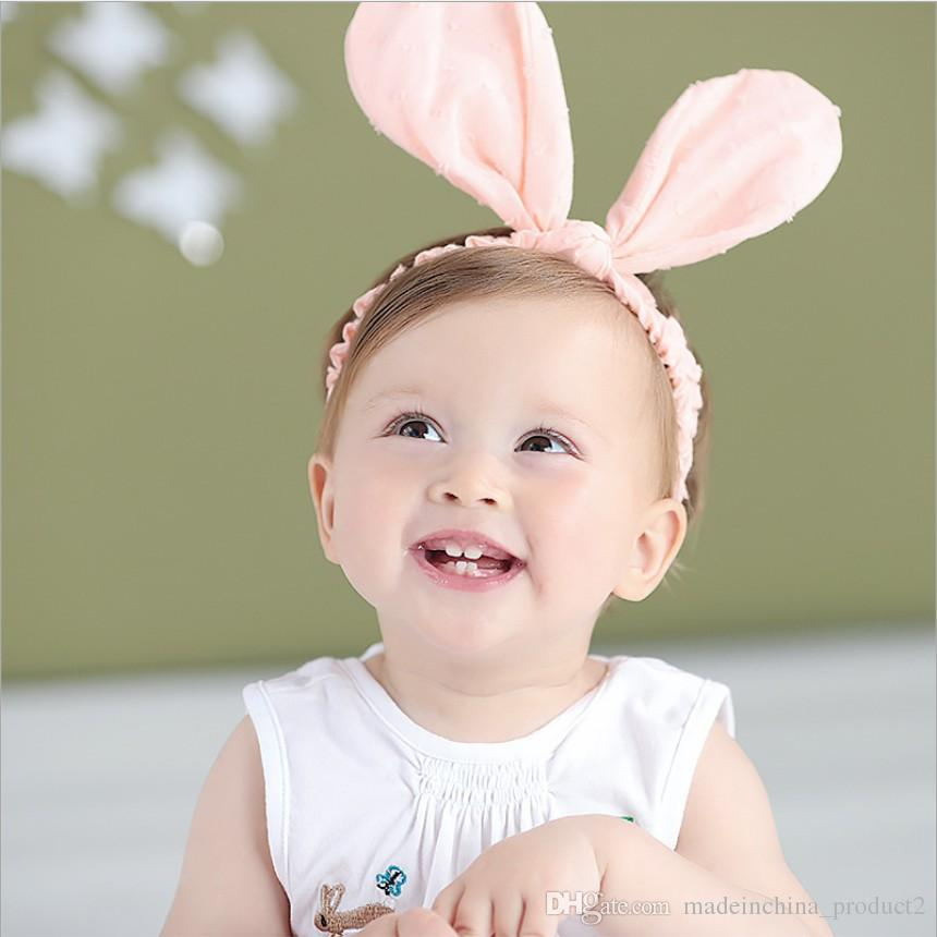 393c7ba84bae Infant Big Rabbit Ears Hairbands 2017 New Pink White Bowknot Kids Elastic  Headwear Children Headband Hair Accessory Hair Accessories For Flower Girl  Silver ...