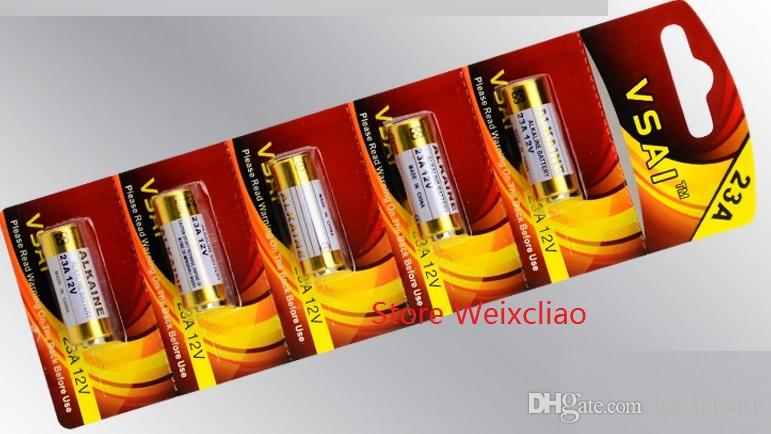 1 lote 23A 12 V 23A12 V 12V23A L1028 bateria alcalina seca 12 Volts cartão de baterias VSAI Frete Grátis