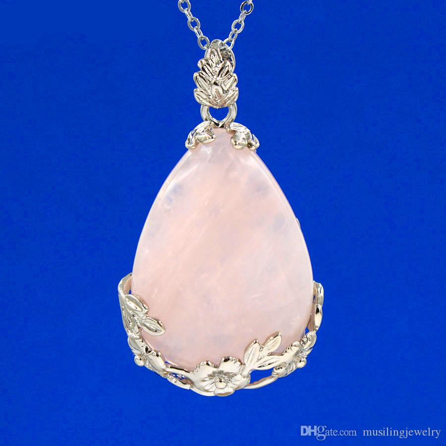 Ciondolo goccia d'acqua Equilibrio energetico Reiki Pendulum Gemma naturale Pietra Charms Healing Chakra Amulet Jewelry