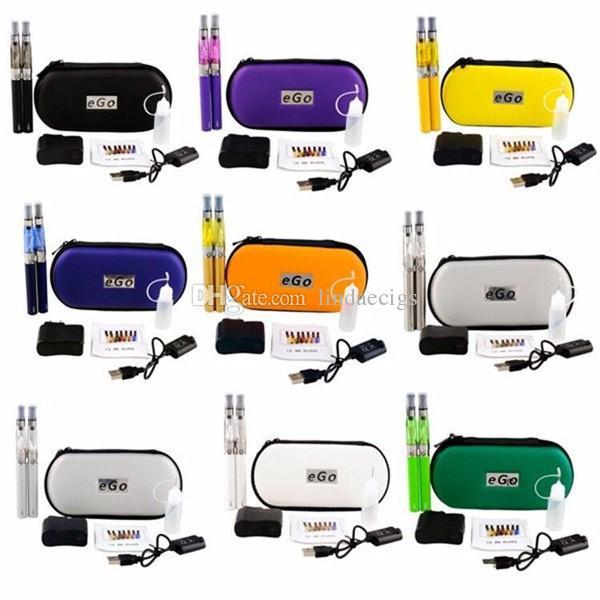 Double eGo CE4 Starter Kit 650 900 1100mAh eGo T battery 1.6ml CE4 Zipper Case VS Double EVOD MT3 Kit