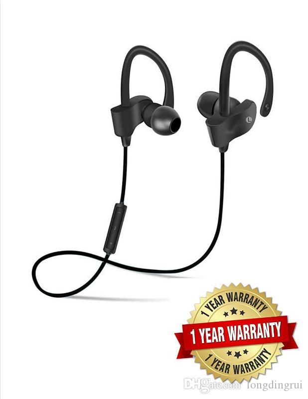 2017 New 56S Bluetooth 4.1 Headphones With Mic, Noise Cancelling Best Wireless Sports SweatProof EarBuds, IPX7 WaterProof Headset For Gym