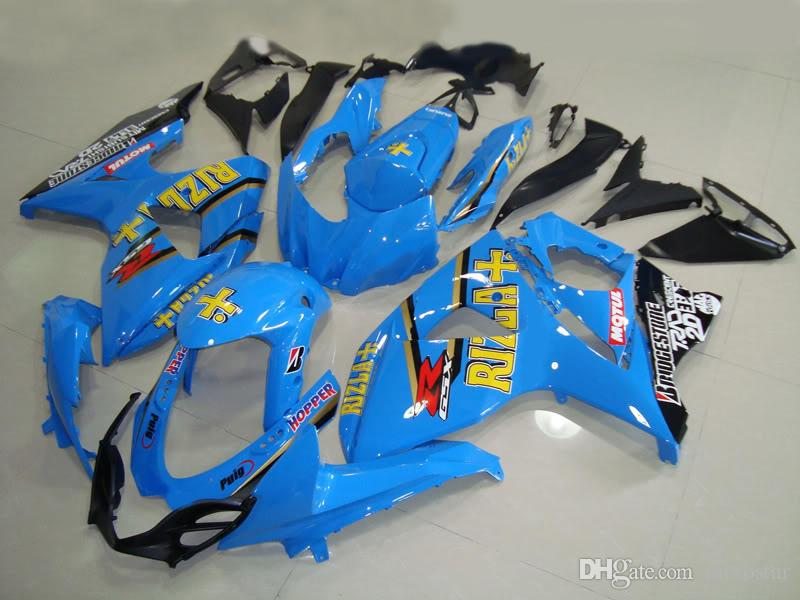 Kit de carenado de la venta caliente del molde de inyección para Suzuki GSXR1000 09 10 11-15 carenados negro azul conjunto GSXR1000 2009-2015 OT15