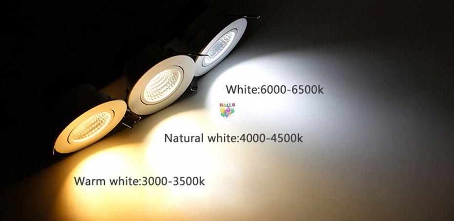 koçanı led downlight yüksek güç 9w 15w 20w kısılabilir led ışıklar aşağı gömme lambalar ac 110-240v